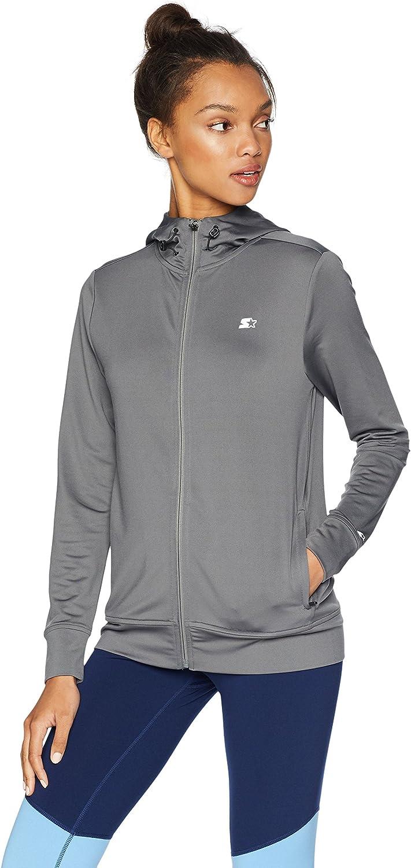 Starter Women's Lightweight Run Jacket with Hood, Amazon Exclusive