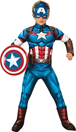 LICENSED DELUXE CAPTAIN AMERICA ADULT MENS AVENGERS SUPERHERO HALLOWEEN COSTUME