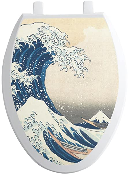Brilliant Rnk Shops Great Wave Of Kanagawa Toilet Seat Decal Bralicious Painted Fabric Chair Ideas Braliciousco