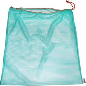 "Laundry Bag – Eco-Friendly Reusable Mesh Travel Organizer for Clothes – Machine Wash with Drawstring – 24"" x 24"" (Turquoise)"