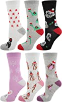 Zest 6 Pack Cotton Rich Ladies Festive Christmas Socks