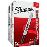 Sharpie Permanent Markers, Fine Point, Black, 24-Count