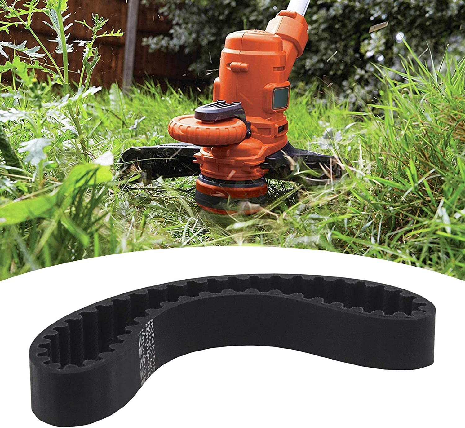Mower Drive Belt 12mm Width 5mm Pitch Rubber Synchronous Closed Loop Timing Belts Compatible with Mac Allister MBS800 Lawnmower