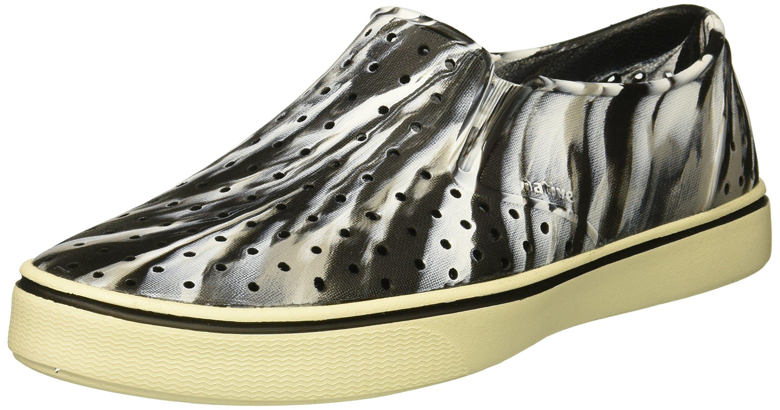 native Men's Miles Water Shoe, Jiffy Black/Bone White/Marble, 5 Men's (7 B US Women's) M US