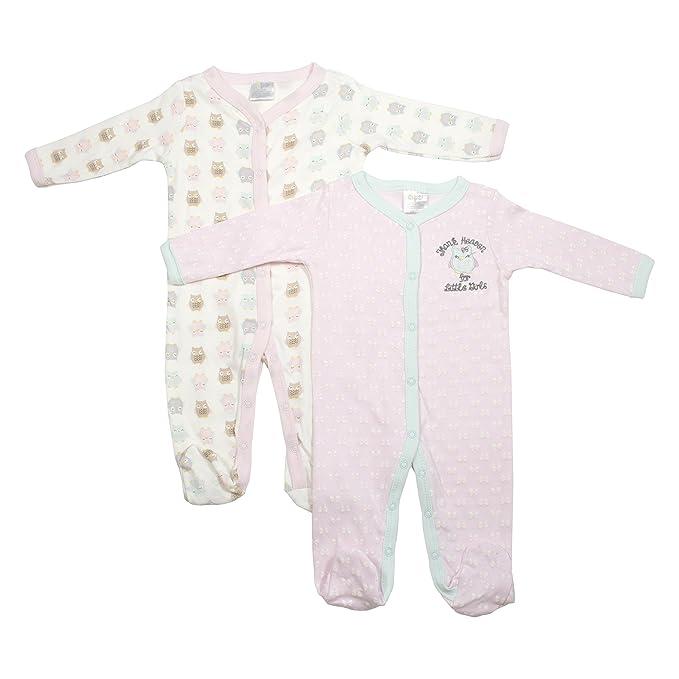 Baby Gear Baby-Girls recién nacido 2 unidades dormir Cutie pijama ...
