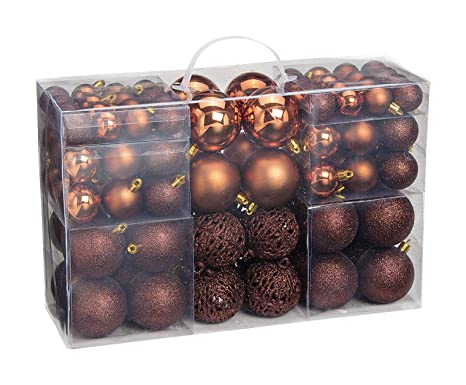 Christbaumkugeln Kupfer.Woma Christbaumkugeln Set In 4 Weihnachtlichen Farben 50 100 Weihnachtskugeln Aus Kunststoff Gold Silber Rot Bronze Kupfer Weihnachtsdeko
