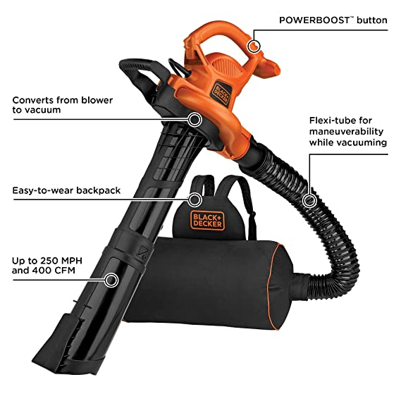 Amazon.com: BLACK+DECKER BEBL7000 Power Boost - Soplador ...
