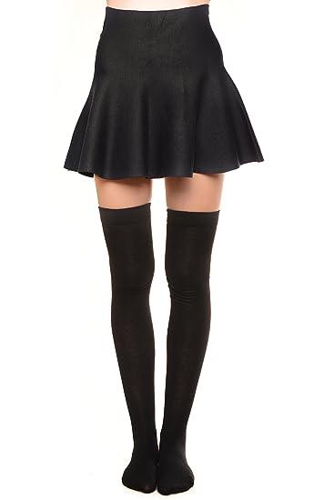 c5e6da8c6 Over the Knee Thigh High Socks Black Size 9-11 at Amazon Women s Clothing  store  Casual Socks