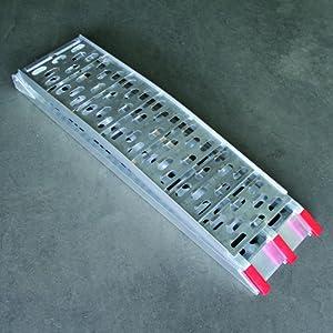 Rampe d'accès en aluminium cross, pliable, L : 225 cm x W : 31 cm