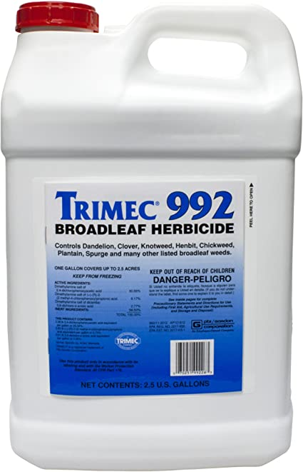 Amazon Com Trimec 992 Broadleaf Herbicide 2 5 Gal Weed Killers Garden Outdoor