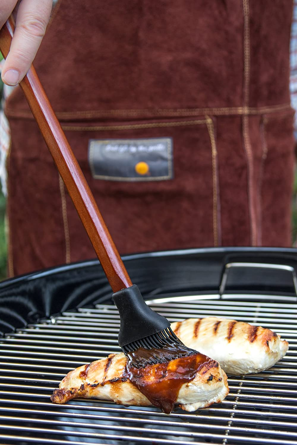 Amazon.com : Outset QB48 Rosewood Collection Basting Brush with Removable Silicone Bristles : Garden & Outdoor