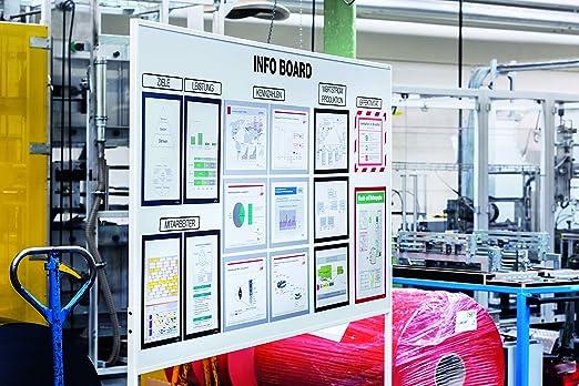 486923 Marco magn/ético para informaci/ón tama/ño A4 Bolsa con 5 unidades DURAFRAME/® MAGNETIC A4 Color: met/álico plateado. DURABLE