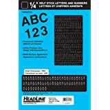 Headline Sign 31741 Stick-On Vinyl Letters and Numbers, Black, 1/4-Inch
