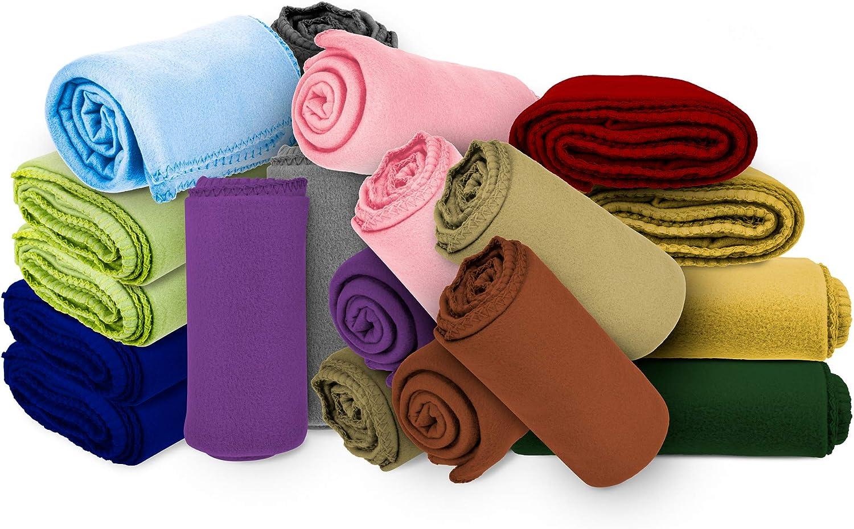 Amazon Com Micro World Super Soft Cozy Fleece Throw Blanket 50x60 Fleece Blanket Assorted Colors Home Kitchen