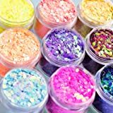 Body Glitter Wenida 9 Colors 190g Holographic Iridescent Cosmetic Festival Makeup Chunky Powder for Nail Hair Eye Face