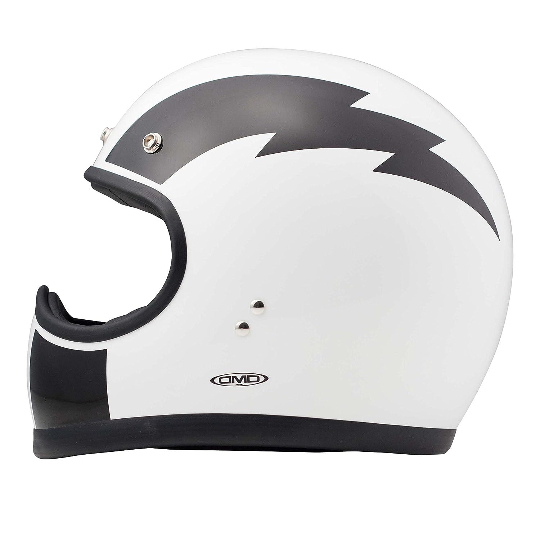 Matt Black Casco Moto DMD RACER M
