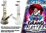 GRAND MASTER SMOKE (32oz) Soak & Wash Biodegradable Formula - Bong Cleaner / Glass Pipe & Hookah Cleaner - Sanitize + Deodorize, Restores 420 & 710 Heady Glass Back To New - No Shaking/No Scrubbing