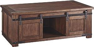 Ashley Furniture Signature Design - Budmore Rectangularside Table - Brown
