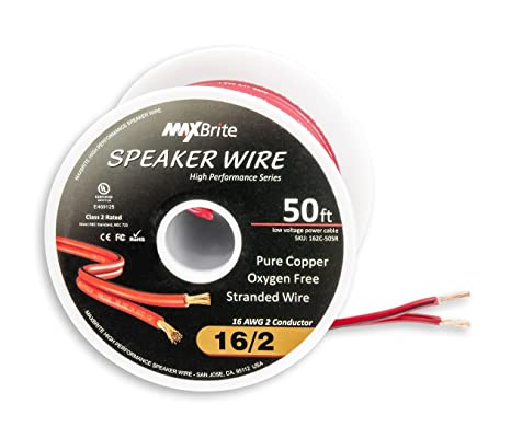 amazoncom high performance 16 gauge speaker wire oxygen free pure copper ul listed class 2 50 feet spool musical instruments