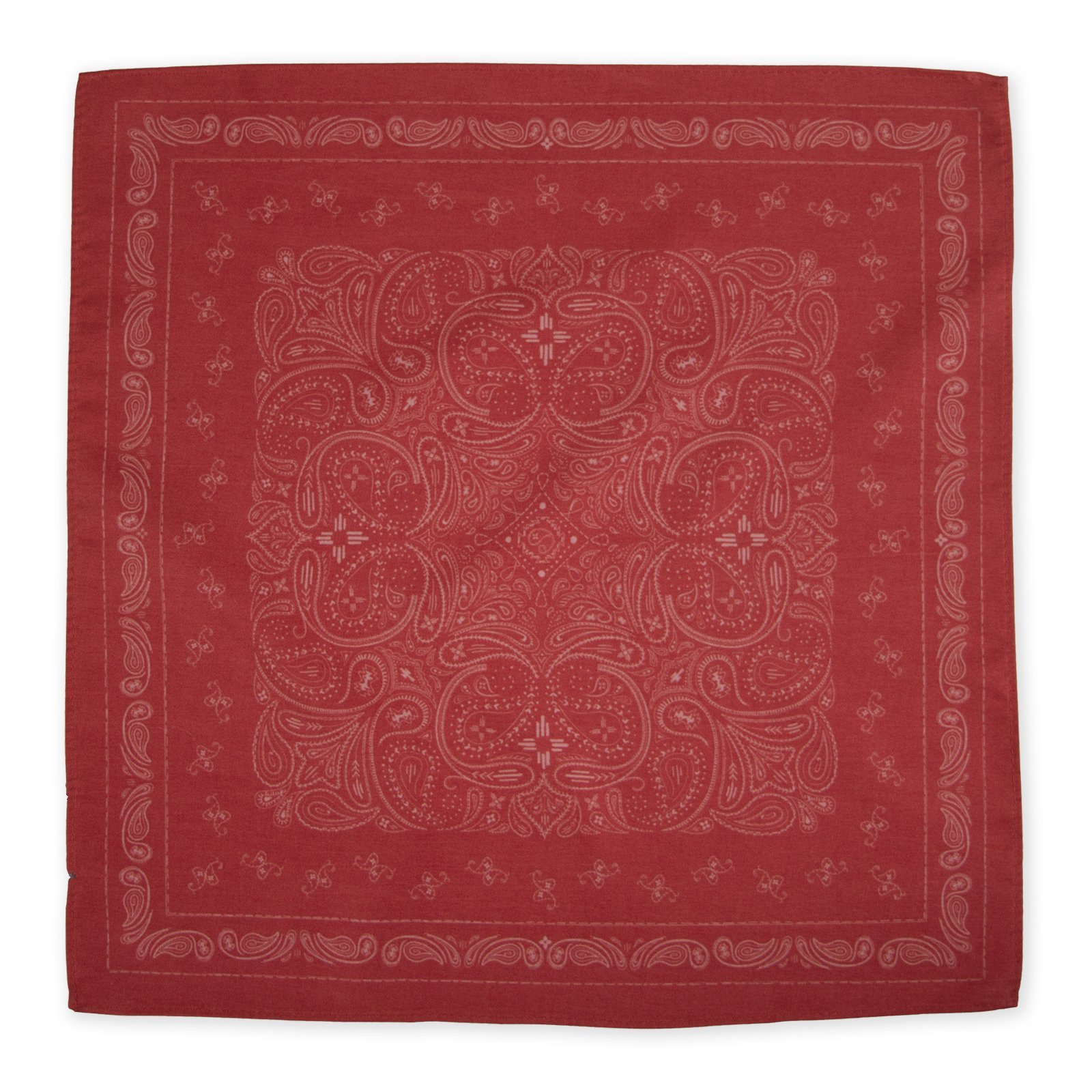 Declan 13.4 Inch Microfiber Pocket Square, Handkerchief, Cleaning Cloth (Brooks Red)
