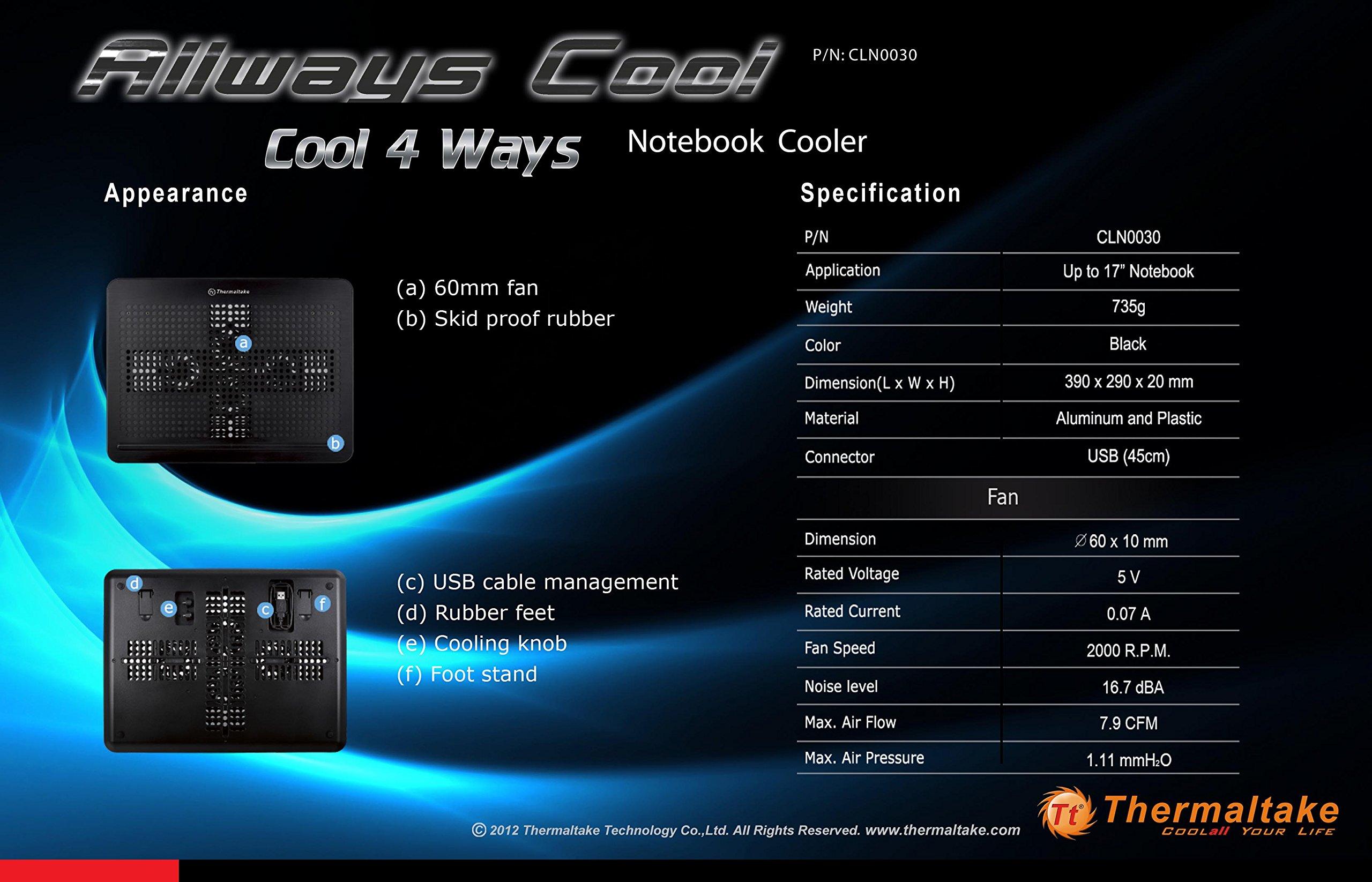 Thermaltake Allways Cool Notebook Cooler (CLN0030) by Thermaltake (Image #5)