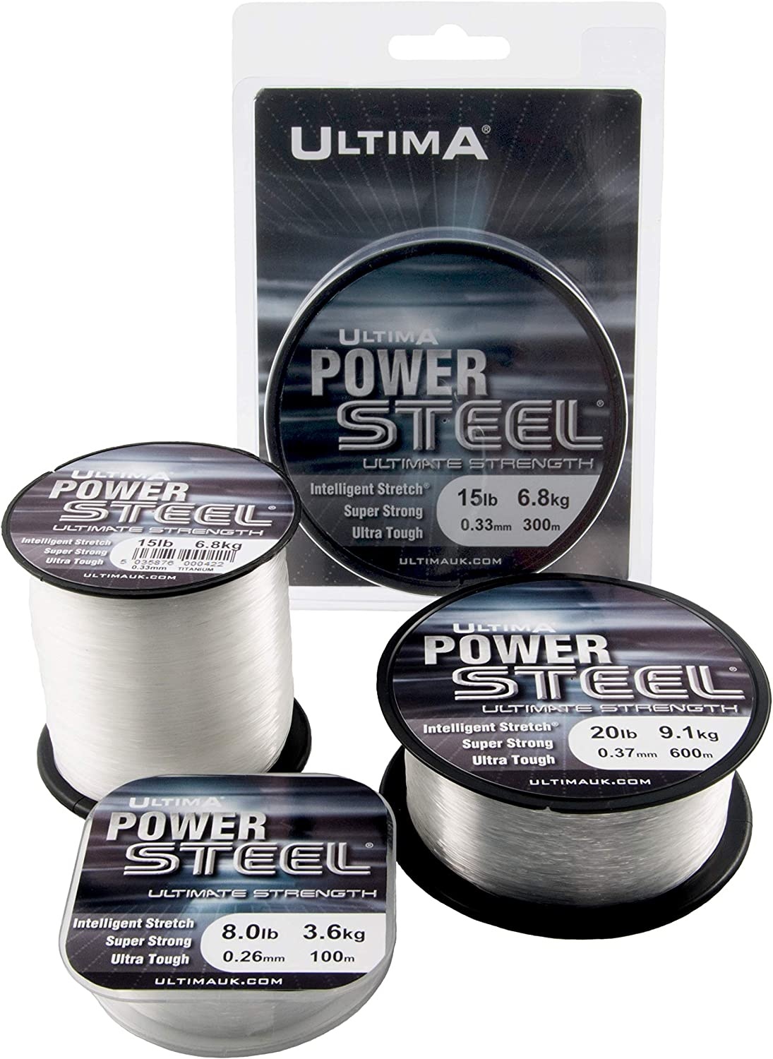 15.0 lb ULTIMA Unisexs E0133 Power Steel Super Strong Mono Fishing Line Crystal 0.32 mm