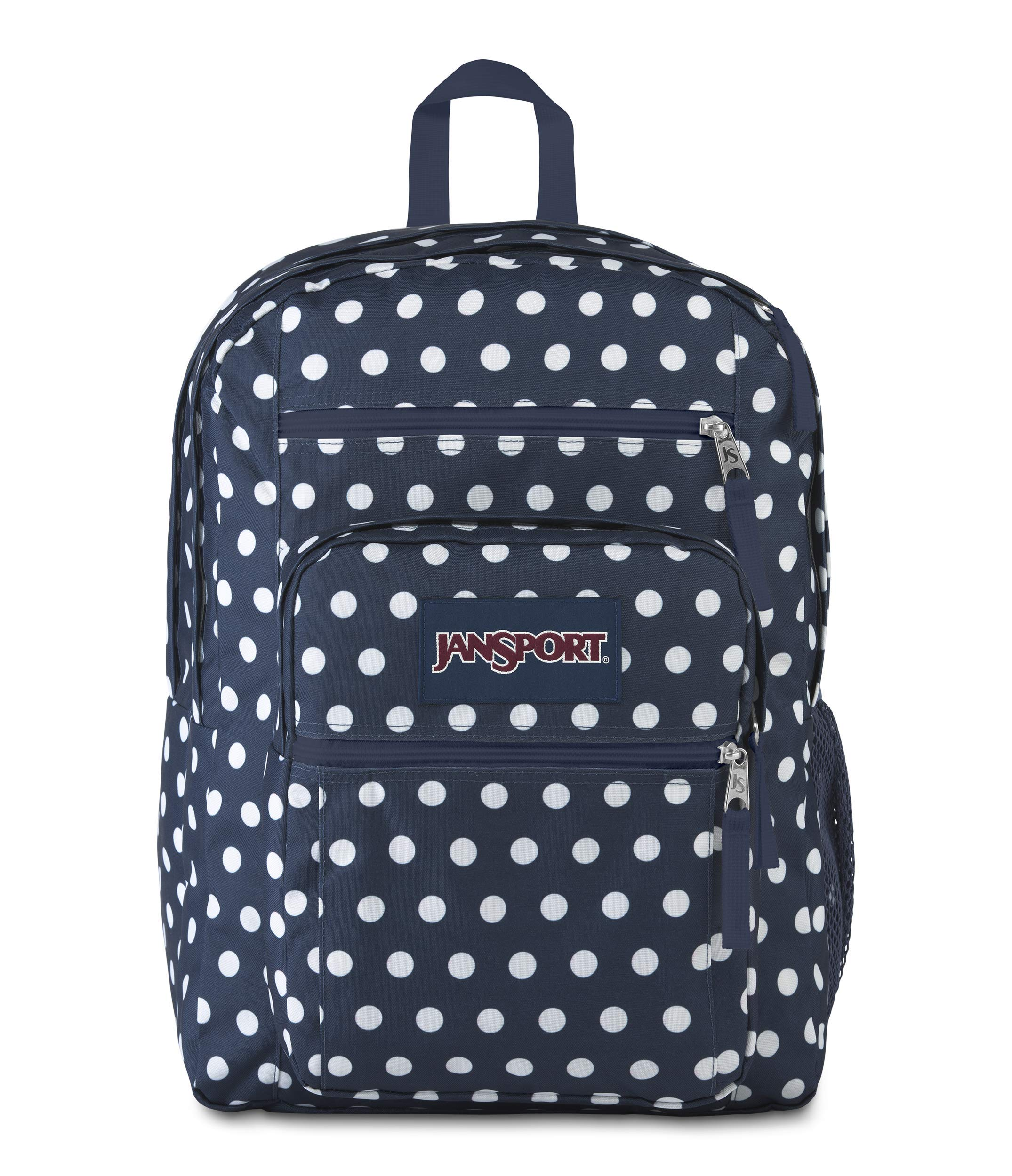 JanSport Big Student Backpack - 15-inch Laptop School Bag, Dark Demin Polka Dot by JanSport