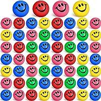 60 Pieces Smile Face Stress Balls, Funny Stress Balls Mini Foam Balls for Relief Stress, School Rewards, Party Bag…