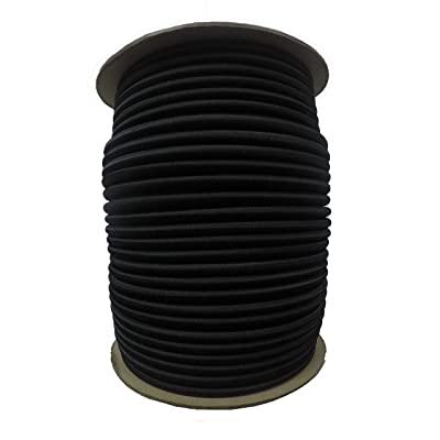 "APCC 3/8"" x 100 FT. Shock Cord - BLK: Sports & Outdoors"
