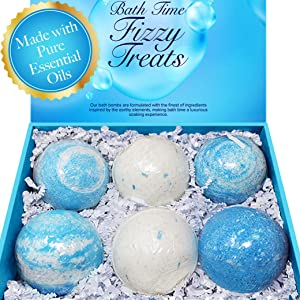 MAJESTIC PURE Bath Bombs Gift Set of 6 – Made…