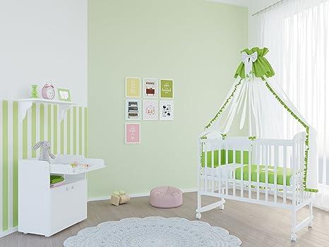 Polini kids babyzimmer set mit babybett gitterbett siple 323 und