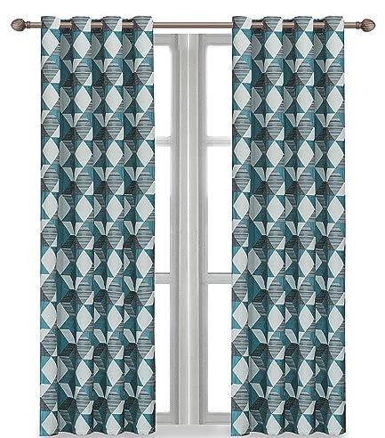 Onlyyou Geometrische Muster, Jacquard - Vorhänge Für Schlafzimmer