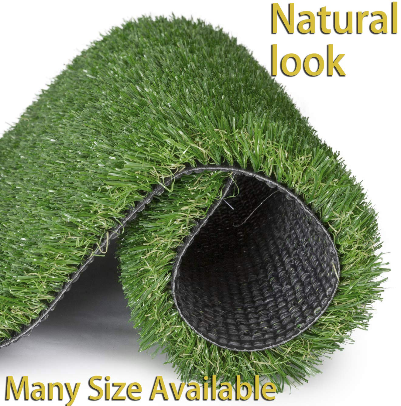 GT LIFE Artificial Grass for Dogs Synthetic Turf Artificial Lawn Rug with Drainage Holes&Rubber Backing, Blade Height 1.2inch Indoor/Outdoor Landscape(5'x5',Autumn Lawn)