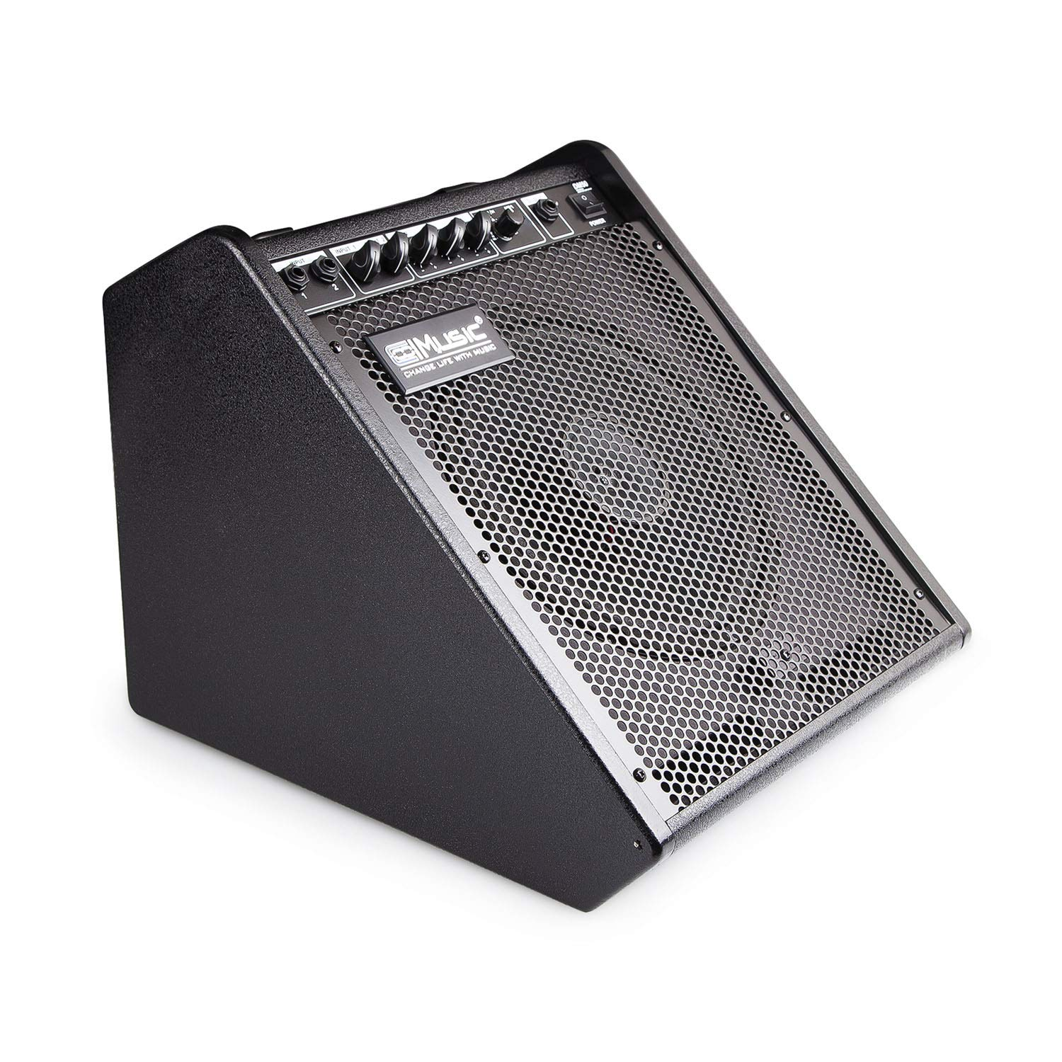 Coolmusic 100W Bluetooth Personal Monitor Electronic Drum Amplifier Dual Channel Speaker with 3-band EQ