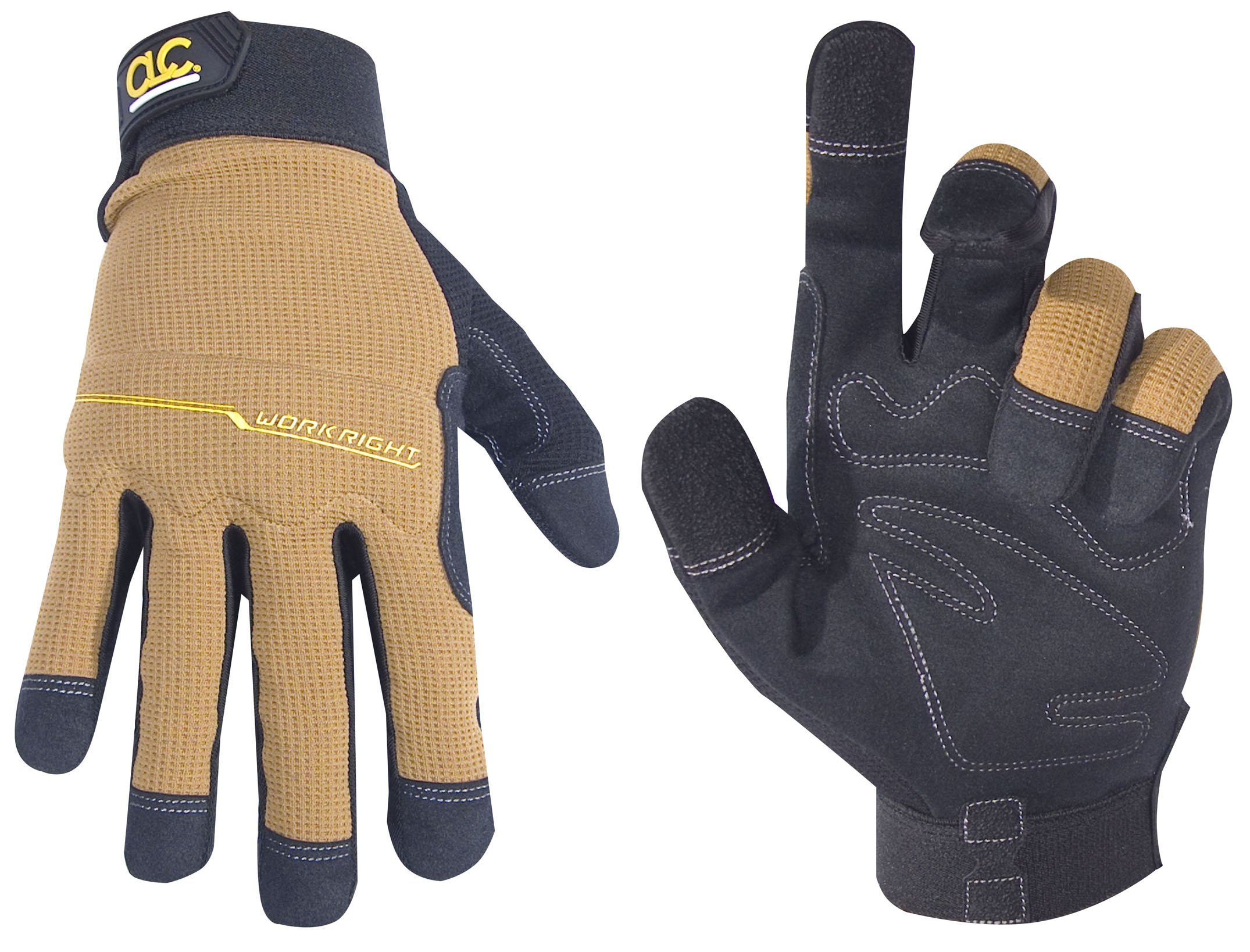 CLC Custom Leathercraft 124M Workright Flex Grip Work Gloves, Shrink Resistant, Improved Dexterity, Tough, Stretchable, Excellent Grip