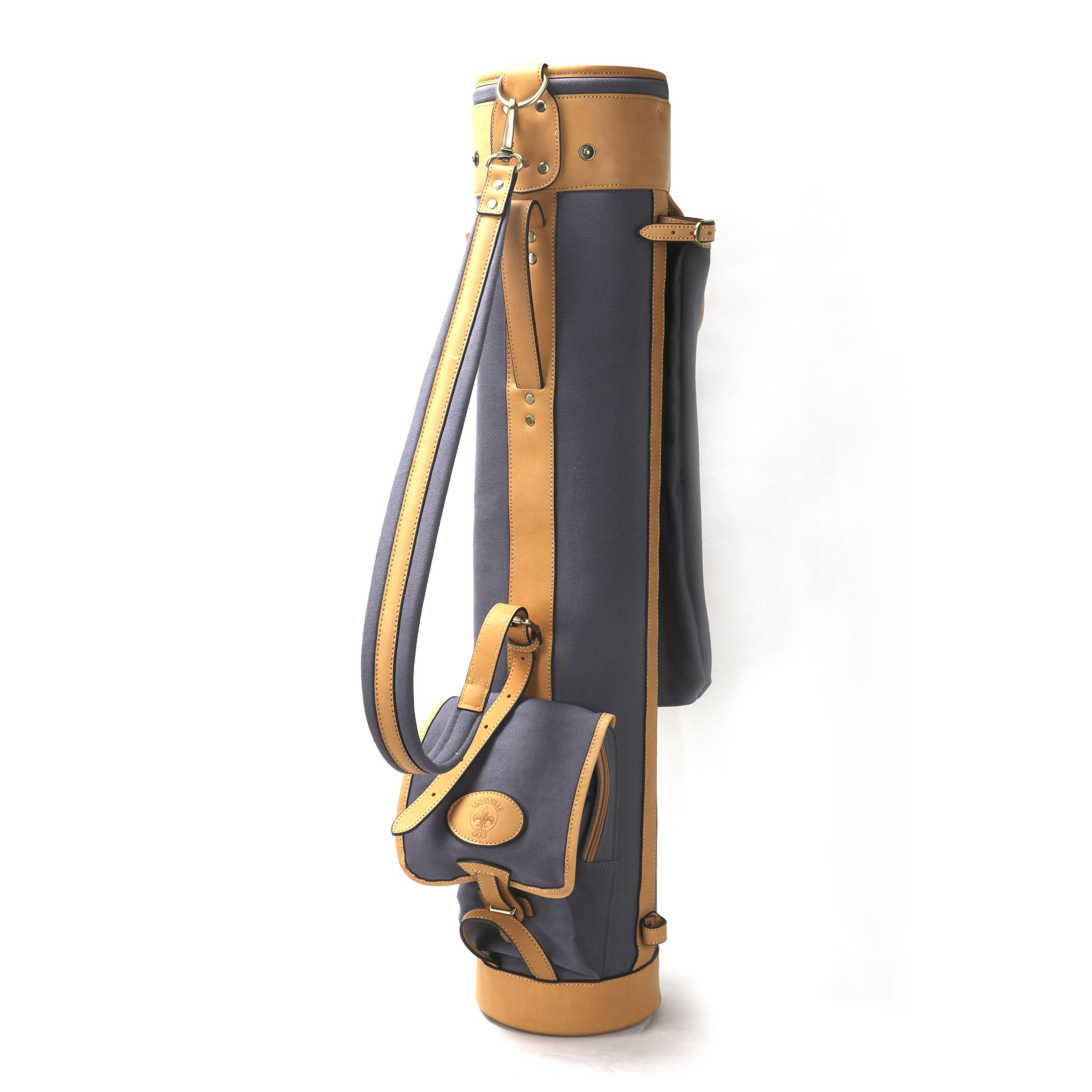 Louisville Golf Canvas Vintage Golf Carry Bag (Blue)