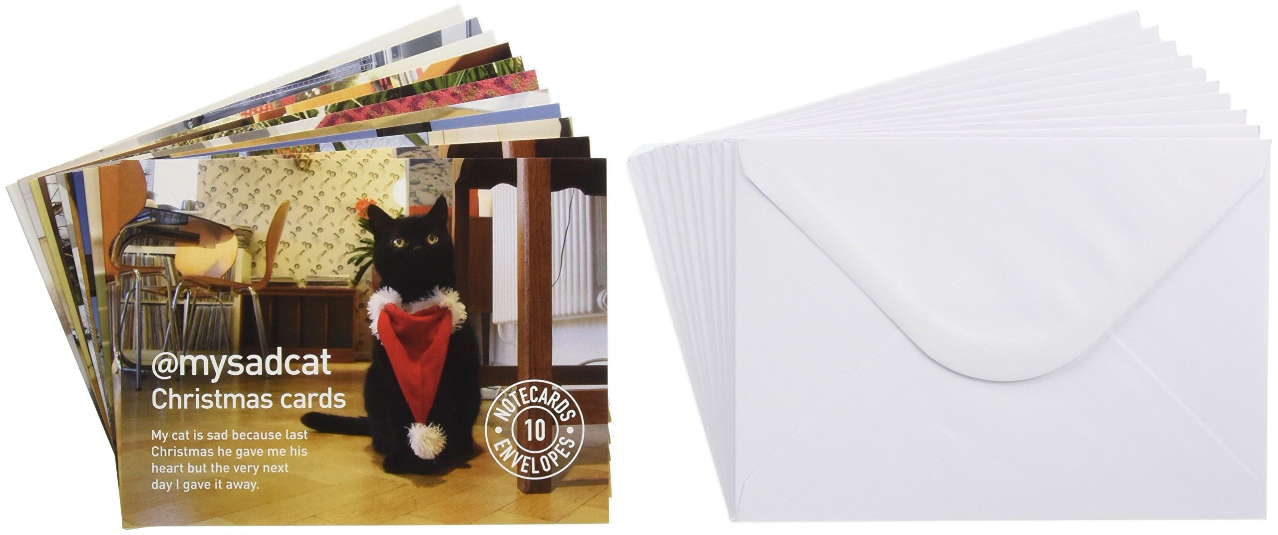 mysadcat Christmas Cards: 10 cards and envelopes: Tom Cox ...
