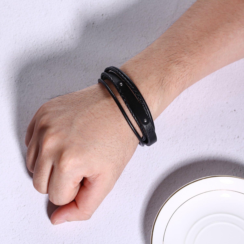 XUANPAI Triforce Legend Zelda Braided Multilayer Leather Magnetic Cuff Bracelet Men Women