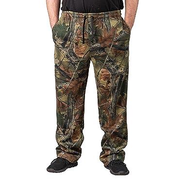 ed9a6390df6e4 Amazon.com: TrailCrest Men's Camo 3 Pocket Hunting Sweatpants: Clothing