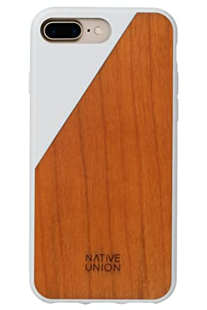 finest selection 812cf 8a469 Native Union CLIC Wooden Case - Handcrafted Real Cherry Wood Drop-Proof  Slim Cover with Screen Bumper Protection for iPhone 7 Plus, iPhone 8 Plus  ...