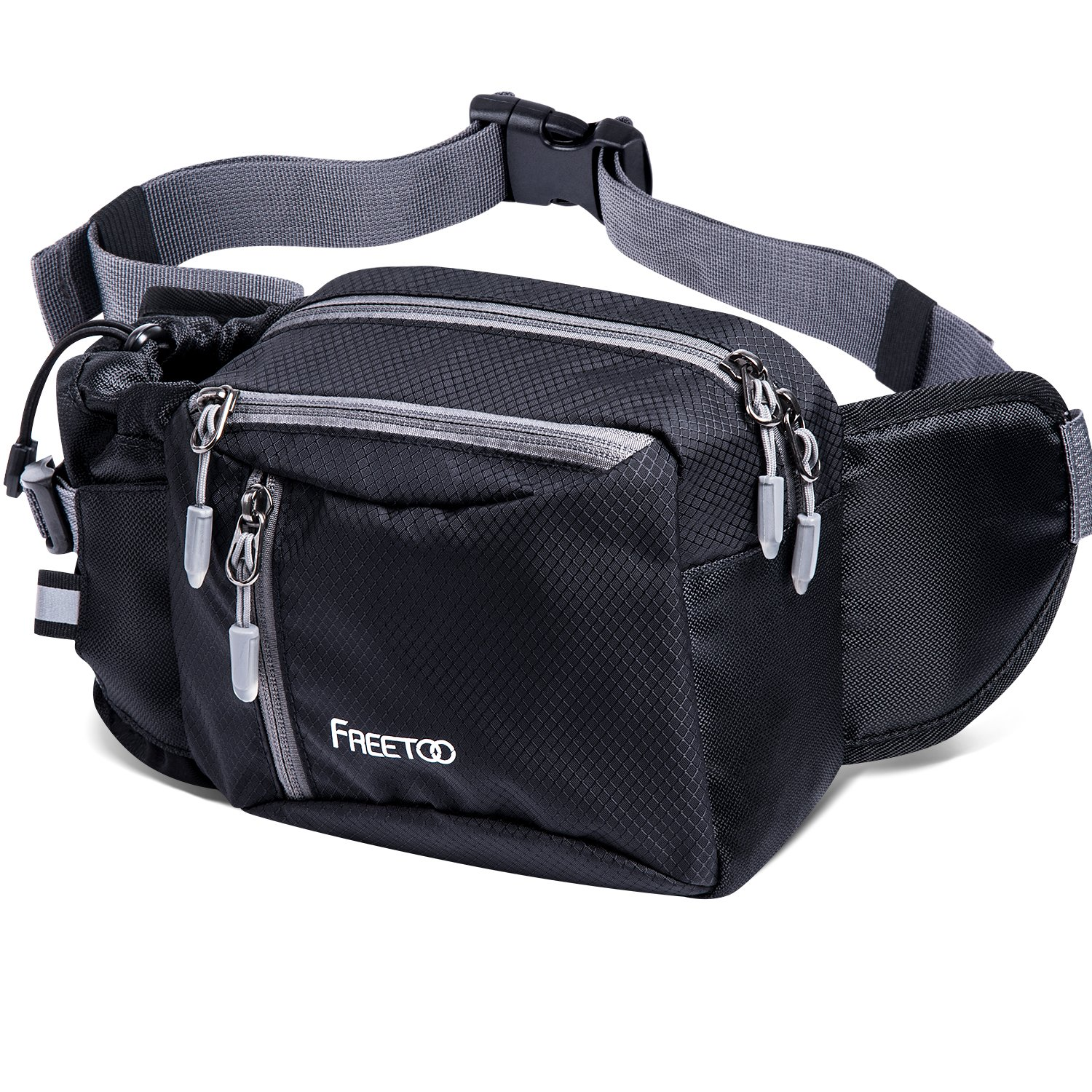 FREETOO Hiking Waist Pack Bum Bag Waist Bag Running Bag Water Resistant with Bottle (Not Included) Holder for Climbing Camping Dog Walking