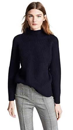 da5bd5669f1ed9 Vince Women's Funnel Neck Sweater, Coastal, Blue, X-Small