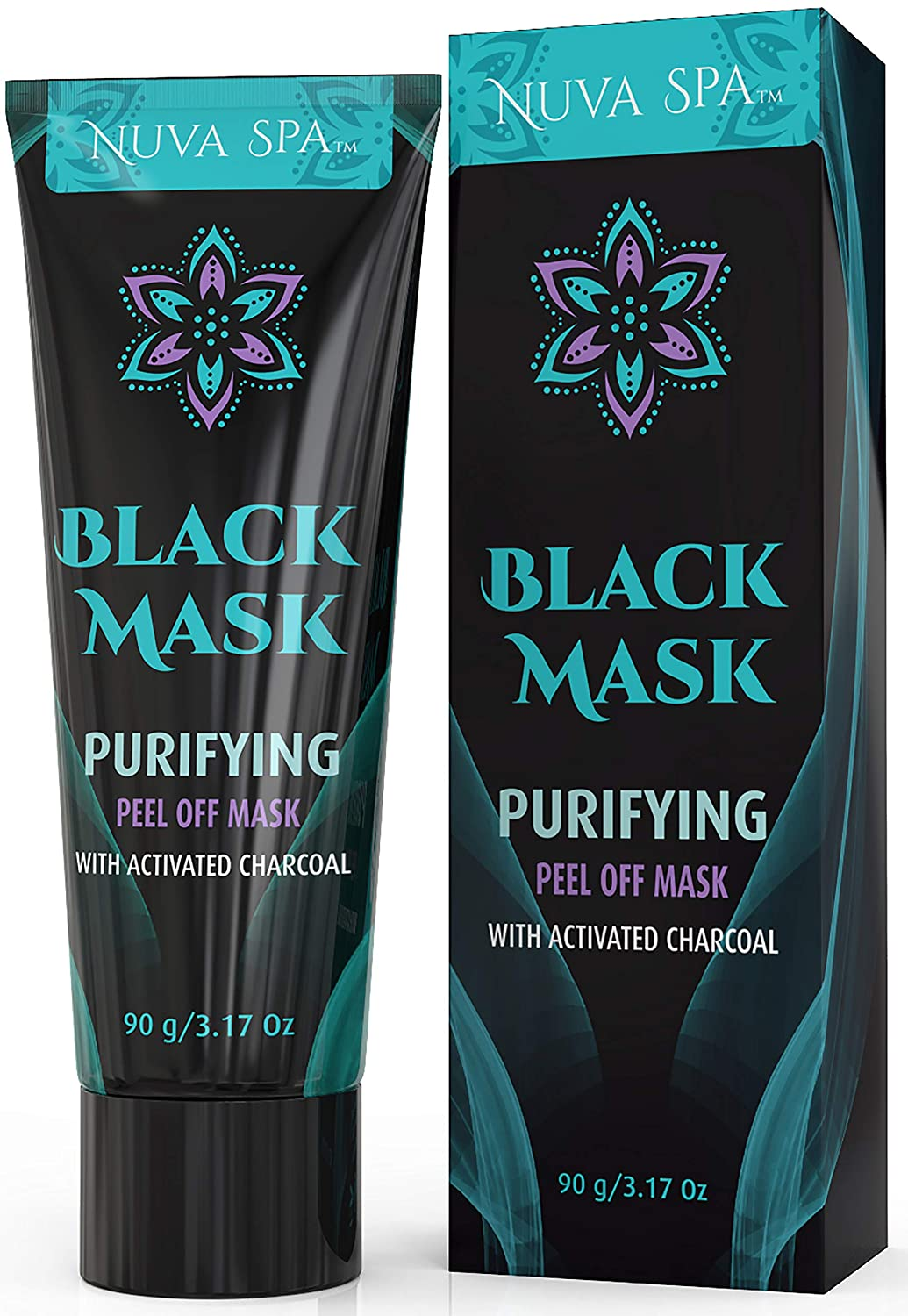 Blackhead Remover Mask, Black Mask w/Activated Charcoal, Blackhead Peel Off Mask for Deep Cleansing Face & Nose 90g (Mascarilla para Puntos Negros) Nuva Brands