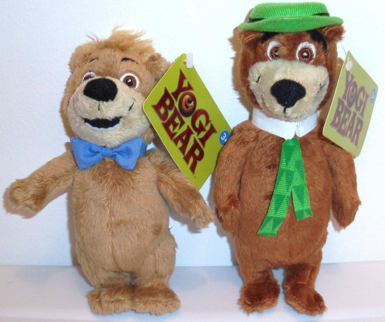 Amazon Com Yogi Bear 2010 Movie Boo Boo And Yogi Set Of 8 Plush Bean Bag Toy Dolls Toys Games