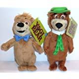 "Yogi Bear 2010 Movie BOO BOO and YOGI Set of 8"" Plush Bean Bag Toy Dolls"