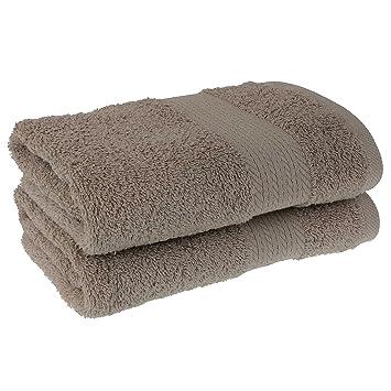Premium Ducha/toallas de mano 70 x 140 2 piezas, 500 g/m², 100% algodón ...
