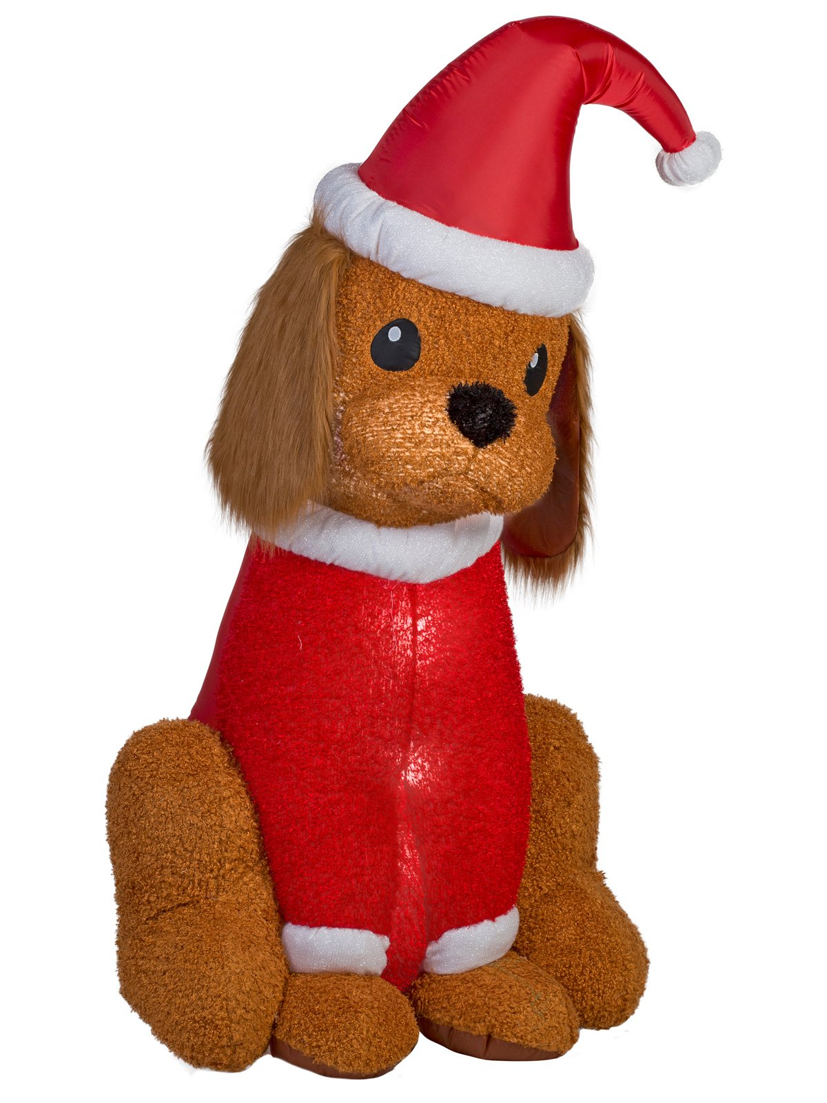 Home Accents Holiday Inflatable Cocker Spaniel with Santa Hat, 6-Feet Height, Lighted Blow Up Christmas Yard Decoration