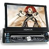 """XOMAX XM-DTSBN927 Autoradio / Moniceiver / Naviceiver mit GPS Navigation + Navi Software inkl. Europa Karten (48 Länder) + Bluetooth Freisprechfunktion + 7""""/ 18 cm Touchscreen Display in 16:9 HD Auflösung (800 x 480 px) + Codefree DVD / CD Player + USB Anschluss (bis 128 GB) + Micro SD Speicherkarten Slot (bis 128 GB) + MPEG4, MP3, WMA, AVI, DivX etc. + Anschlüsse für Rückfahrkamera & Lenkradfernbedienung + Single DIN (1DIN) Standard Einbaugröße + inkl. Fernbedienung, Einbaurahmen"""