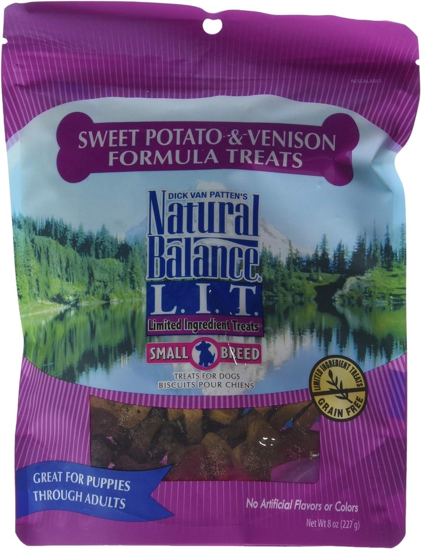 Natural Balance 723633606080 Lit Treat Lit Venison & Sweet Potato 8Oz