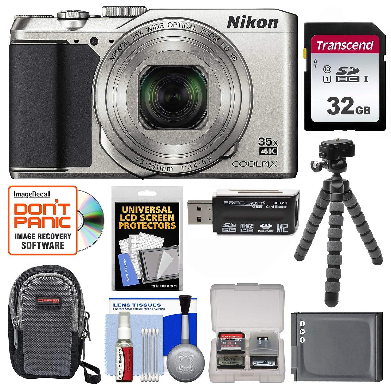 Nikon Coolpix a900 4 K Wi - Fiデジタルカメラ(シルバー) with 32 GBカード+ケース+バッテリー+ Flex三脚+キット   B01CYT898Y